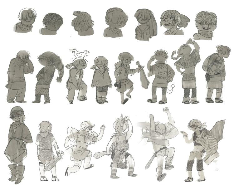 Preliminary sketches Duck Quest - scookart | ello
