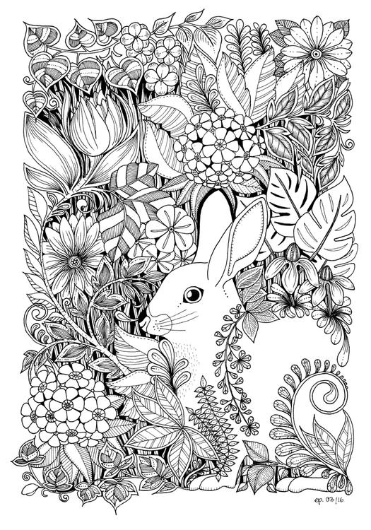 Easter Bunny - illustration, drawing - ellenparzer   ello