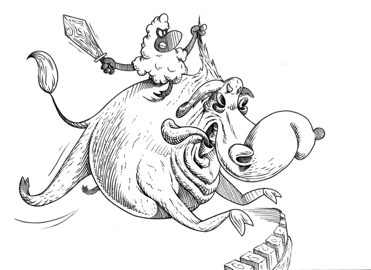 Riot starters - illustration, drawing - kaiman-6057 | ello