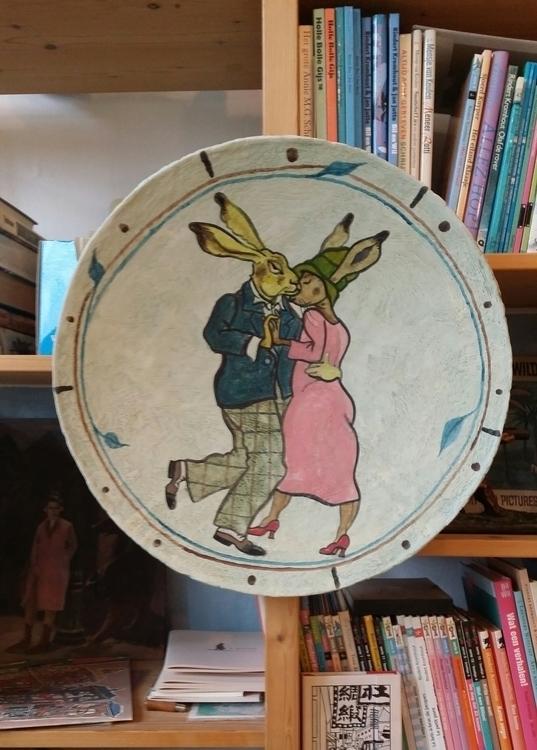 Original painting plate - illustration - janjutte | ello
