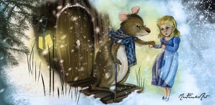Pulgarcita- Picture book - illustration - marfandosart | ello