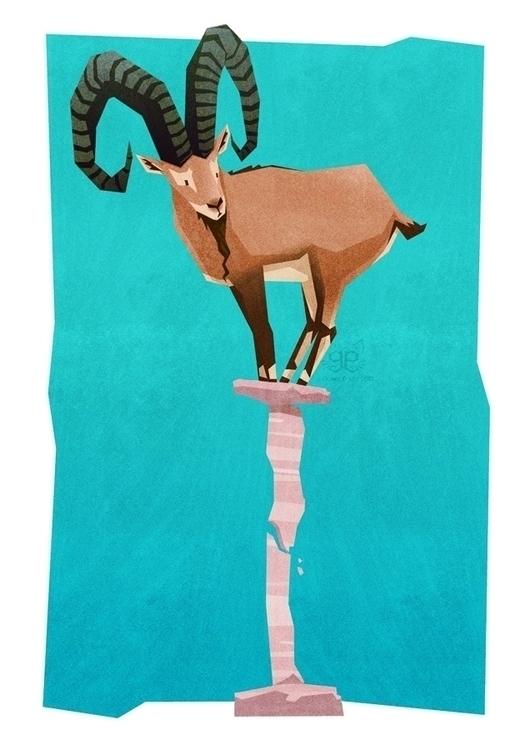 Ibex - ibex, animalalphabets, colourcollective - gemmagould | ello