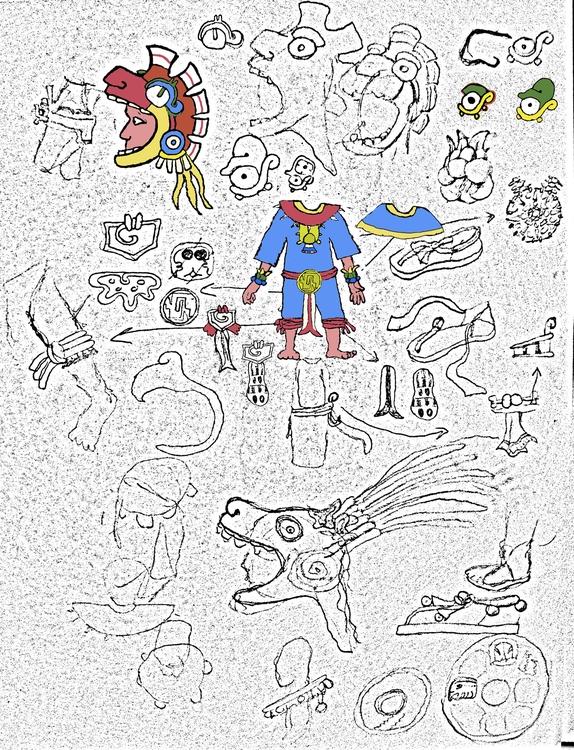 Research Aztec Warrior - costumedesign - smouss | ello