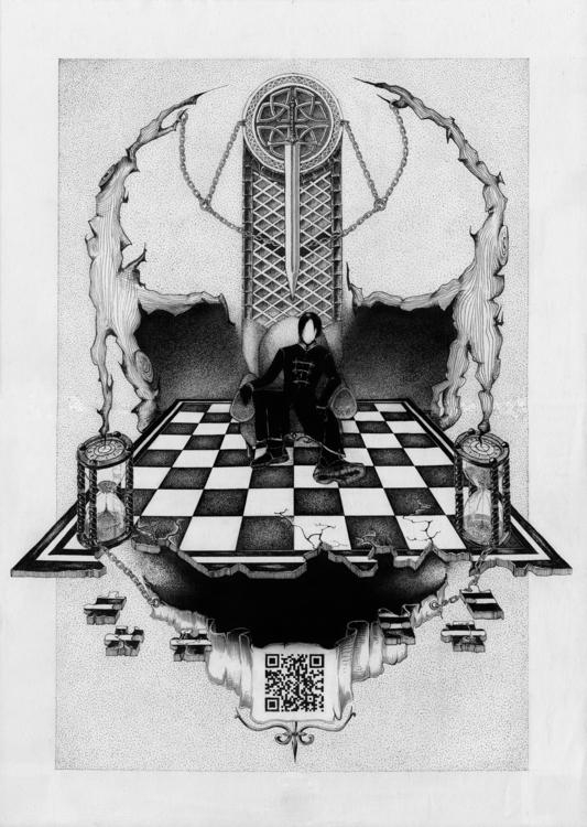 illustration, monochrome, ink - neimenjaidde | ello