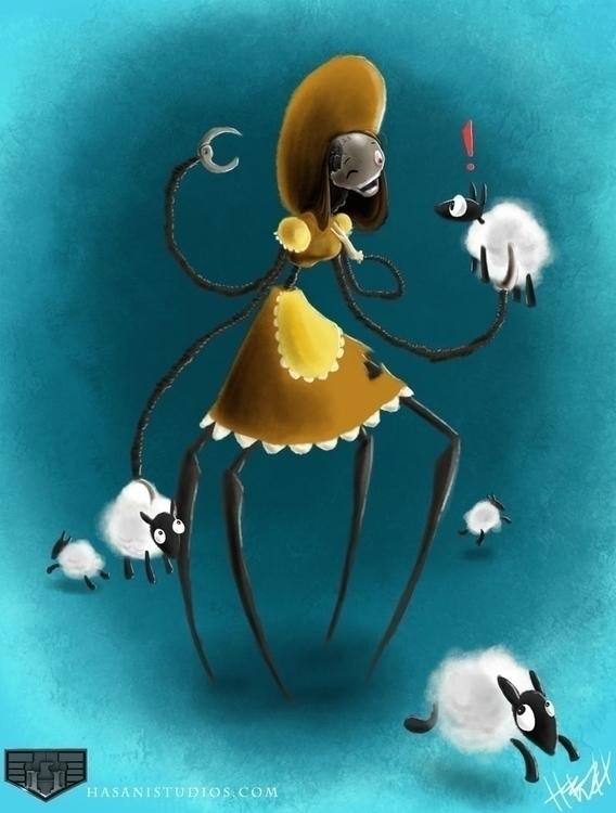 Bo Peep - illustration - hasaniwalker | ello