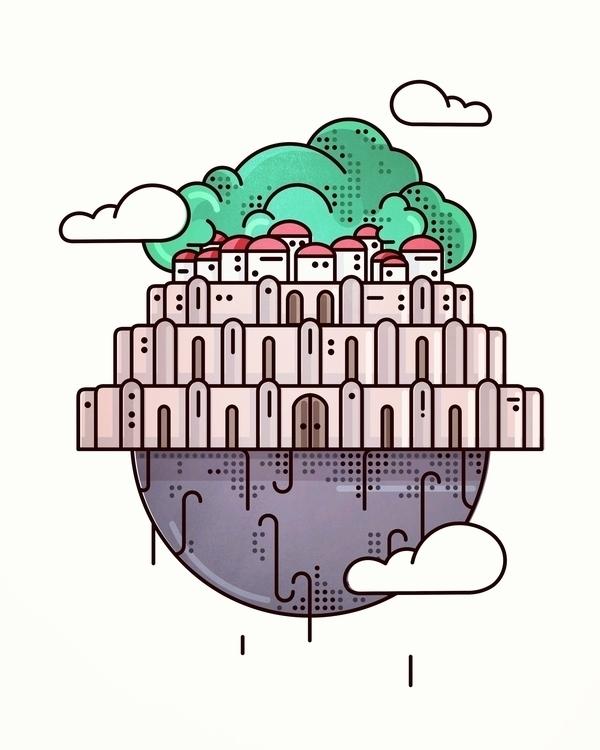 Castle Sky - illustration, animation - almigor | ello