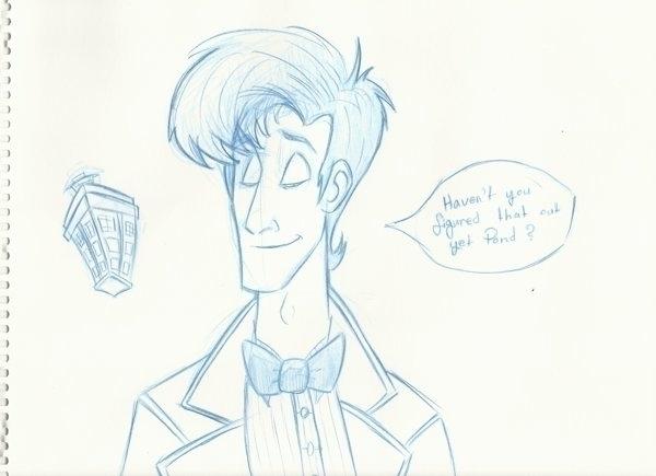 Eleventh Doctor - doctorwho, sketch - dustlight_ | ello