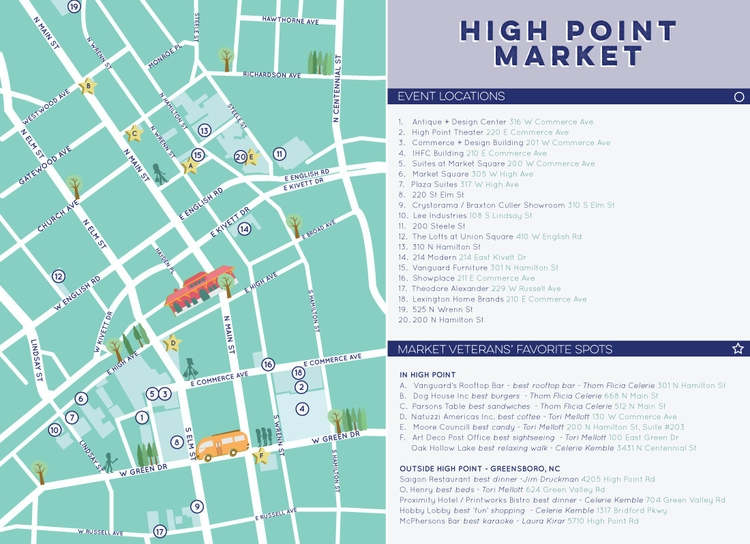 High Point Market Map | Client - christinaluka | ello