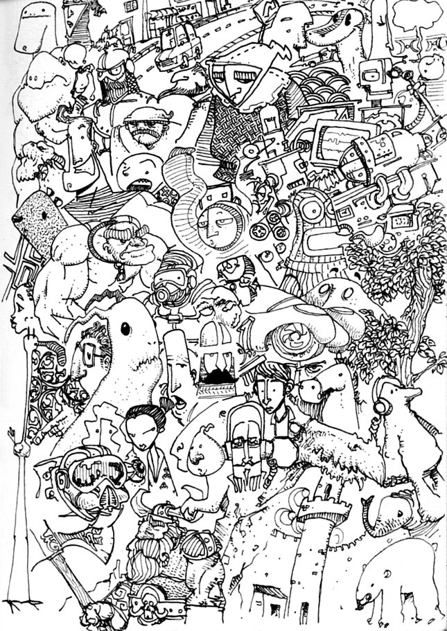 illustration, lineart, lineillustration - gustavo-9229 | ello