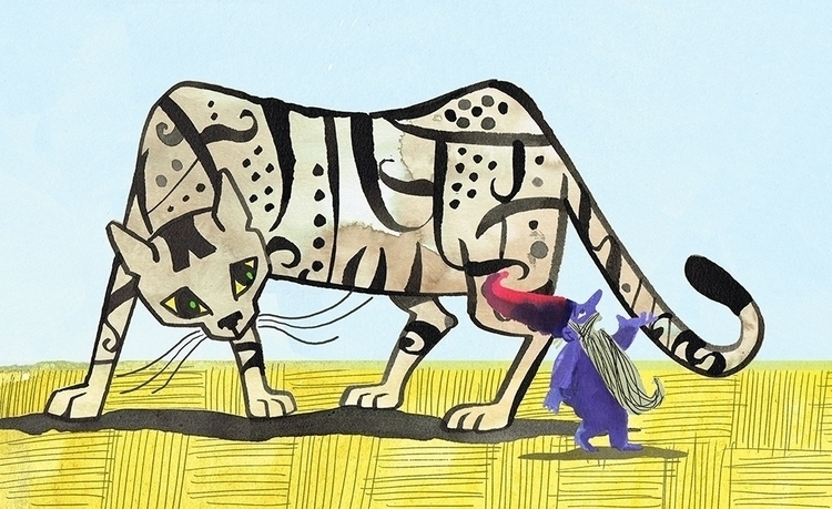 cat, hanschristianandersen, illustration - janjutte   ello
