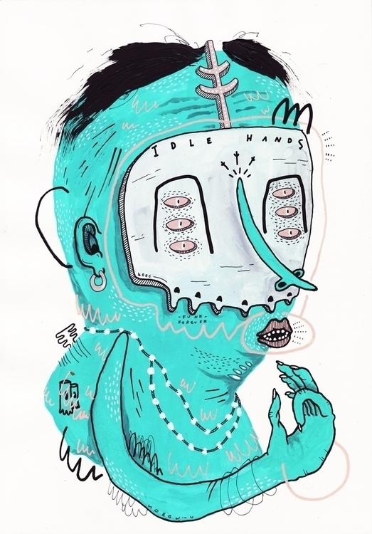 Idle Hands - art, artistsonnabaroo - kimbogruff | ello