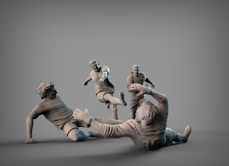 soccer, players, football, 3dsmax - lucassomariva | ello