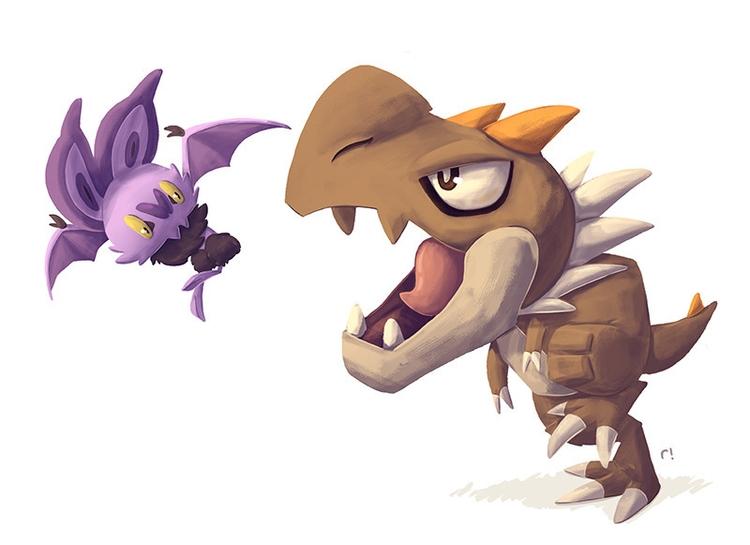 Tyrunt Noibat - pokemon, illustration - ryannotbrian | ello