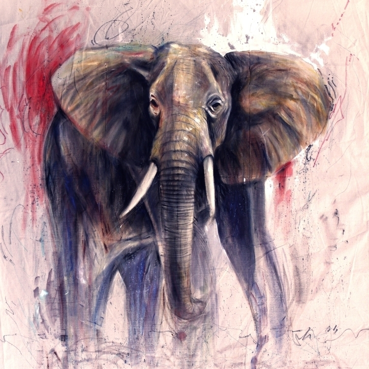 Elephant Room! 8' oil dropcloth - lukemack | ello