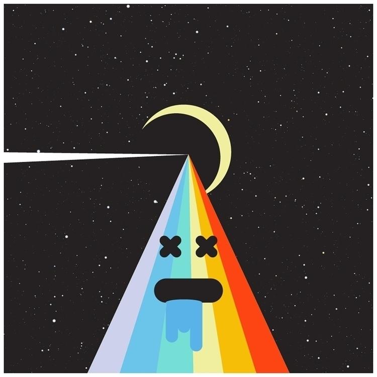 Pink Floyd Dark Side Moon - illustration - hooraymond | ello