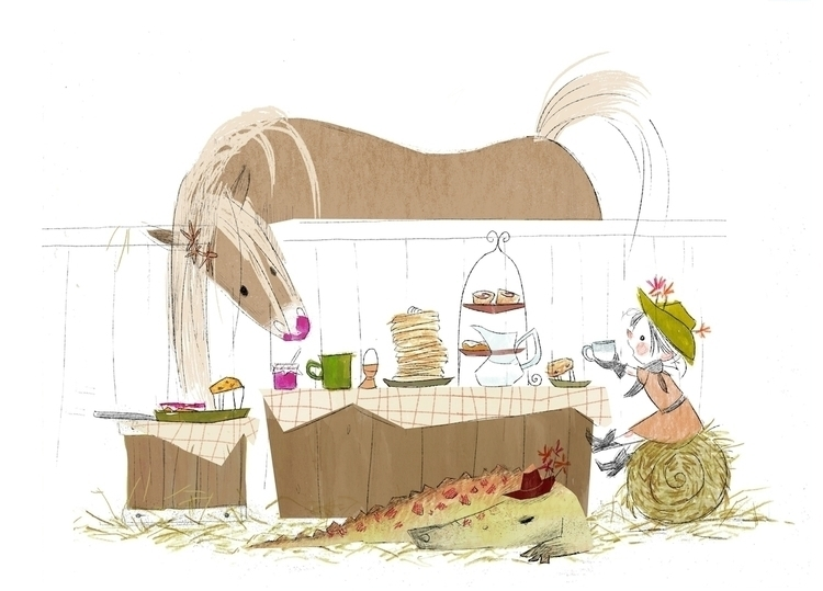 Sunday Brunch - illustration, kidlitart - elizabetvukovic | ello