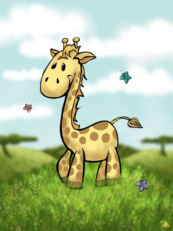 Happy giraffe! Hand Hold organi - dmerchen | ello