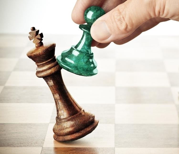 Chess pieces - illustration - crankyme | ello