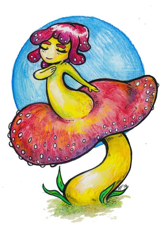 Mushroom Girl - Mushroomgirl - ariannafahrenkamp   ello