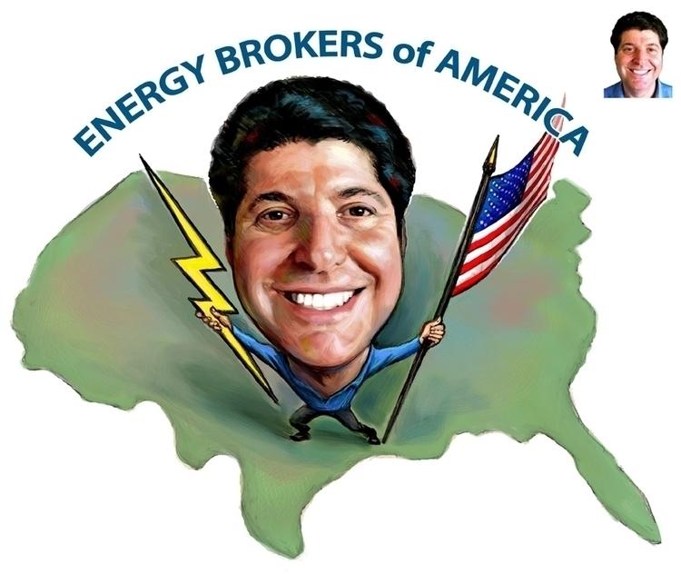 Energy Broker - illustration, digitlart - doritart | ello