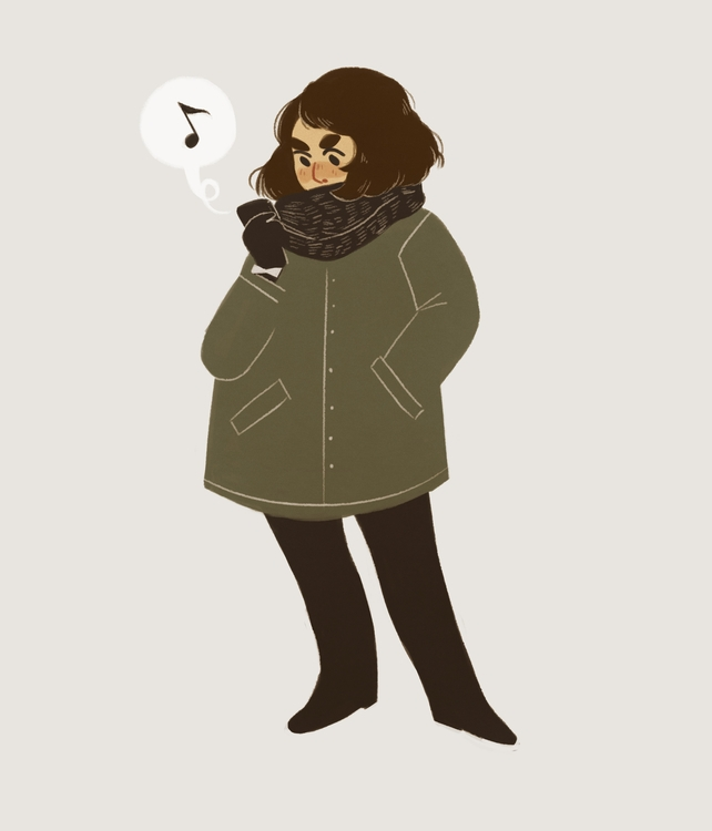 warm - selfportrait, warmup, illustration - alexpperkins | ello