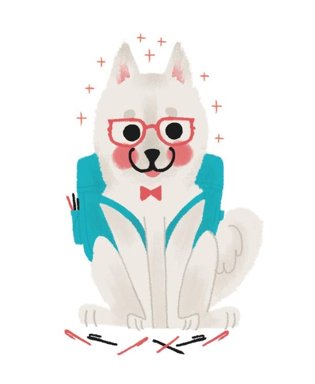 dog, illustration, wacom, smart - mabelalarcon | ello