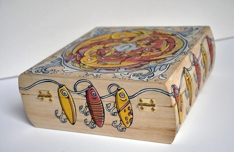 Fishing Box, gouache wood - box - sagecotignola | ello