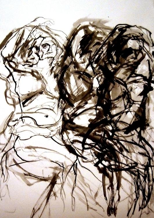 ink, drawing - vuja90 | ello