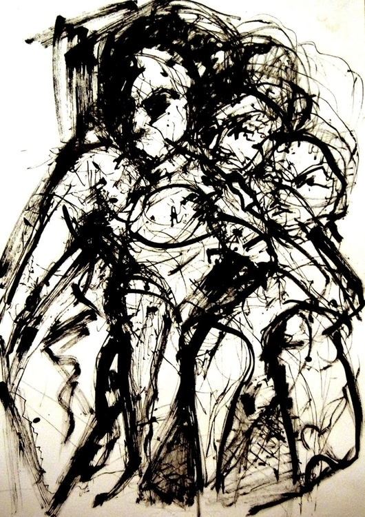 drawing, penink - vuja90 | ello