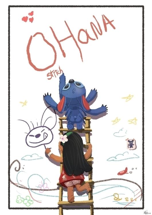 lilo stitch- Fanart - illustration - mateuzfernandes | ello