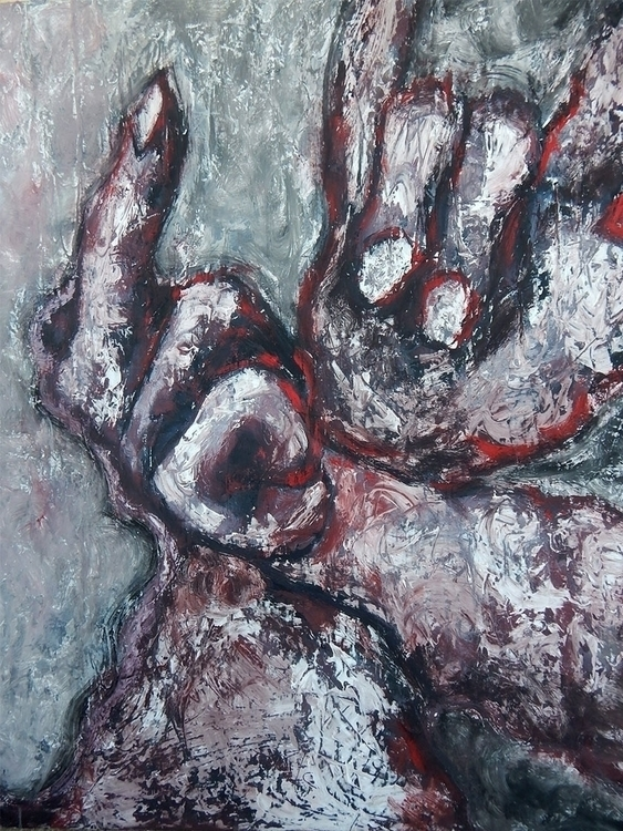 hands defiance, 100x80 cm, oil  - vuja90 | ello