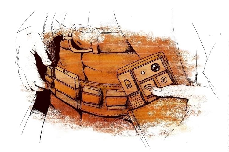 Good, bad Ugly - Phoneblock - illustration - stefano-4302 | ello