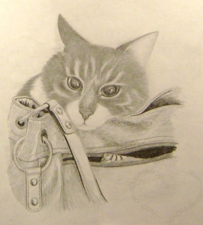 paid pet portrait, 2012 - drawing - kendra-5062 | ello
