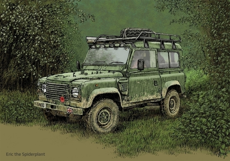 Land Rover swb Billing - illustration - dannybriggs | ello