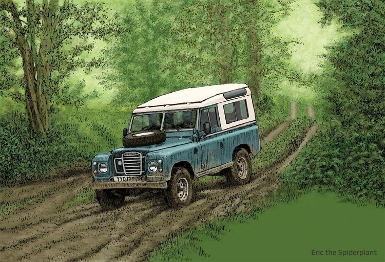 Land Rover Series III Billing - illustration - dannybriggs | ello