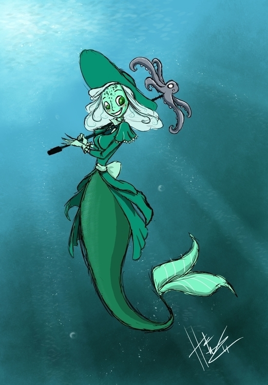 fancy Mermaid - mermaid, illustration - hasaniwalker | ello