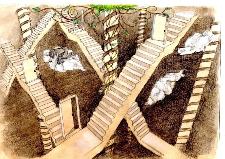 Perspective - fantasyart, illustration - cristinaporcelli   ello
