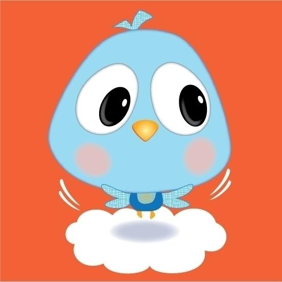 Blue Birdie - Bird,cloud - kvoerg | ello