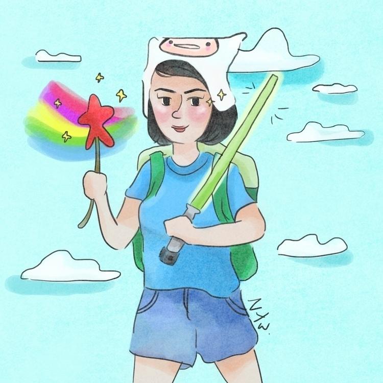 illustration, animation, painting - elwinawillianto | ello