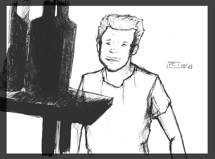 Drunk - sketch, man, illustration - cristinaporcelli | ello