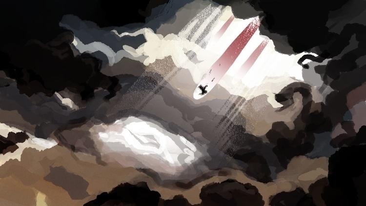 Morning star - morning, dawn, digitalillustration - flightlessbutstilltrying | ello