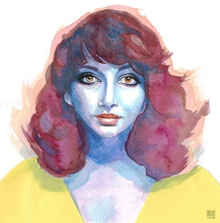 Kate Bush - illustration, portrait - kasia_urbaniak | ello
