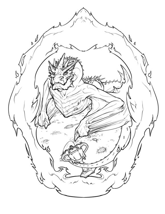 Smaug/Hungarian Horntail Dragon - celestialartistry | ello