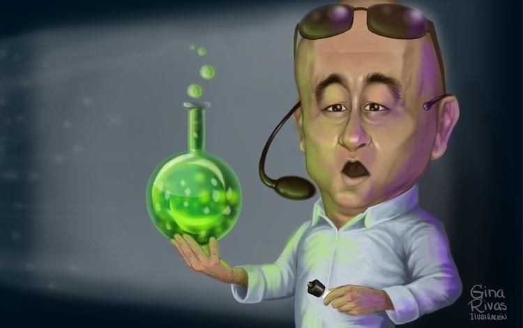 Professor Chemistry - caricature - ginarivas | ello