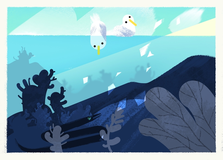 beach gul 3 - sea, animation, characterdesign - leytonparker | ello