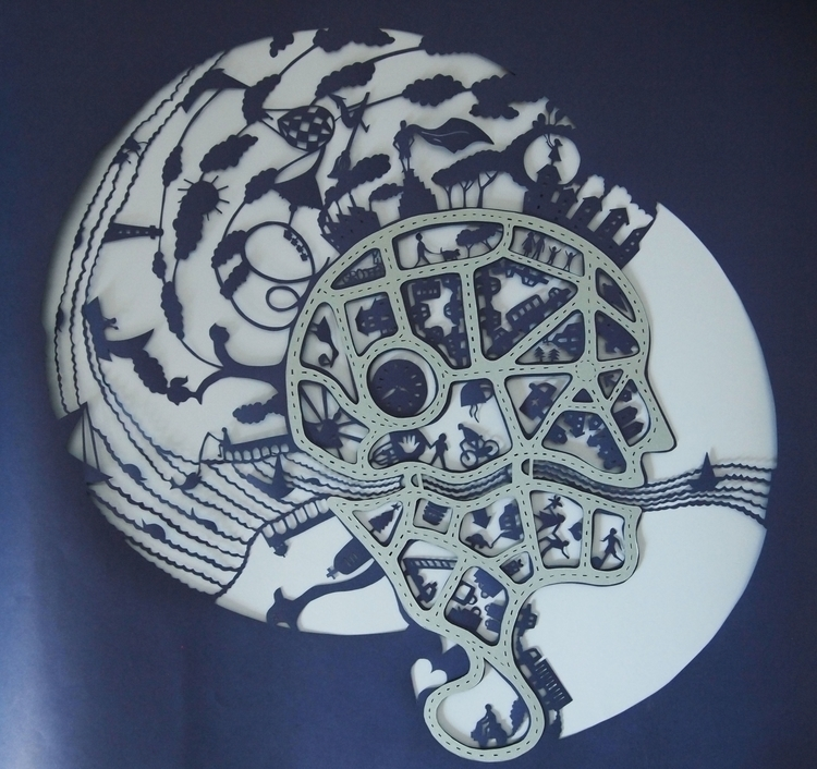 Mind Map - illustration, papercut - janakilele | ello