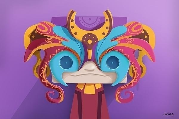 mask - digitalart, characterdesign - juanco-1165 | ello
