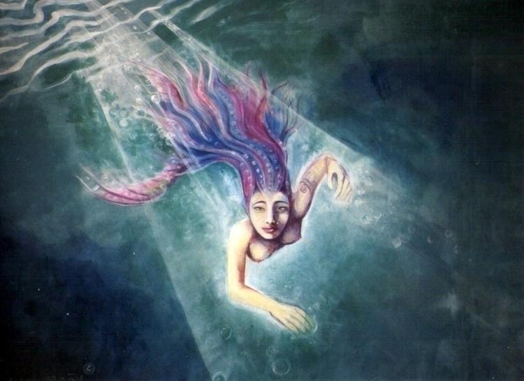 Mermaid Backdrop fluorecent col - mischanaaraat | ello