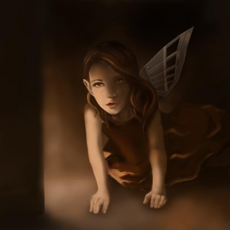 Lost wing - fantasy, digitalpainting - ausmakalnina   ello