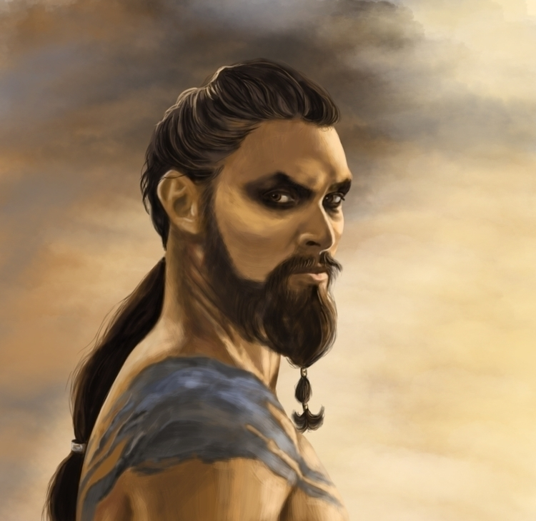 Khal drogo - digitalpainting, photohop - ausmakalnina | ello